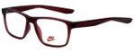 Nike Designer Eyeglasses Nike-5002-600 in Matte Red 48mm :: Custom Left & Right Lens