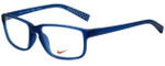 Nike Designer Eyeglasses Nike-7095-415 in Matte Navy Midnight 54mm :: Custom Left & Right Lens
