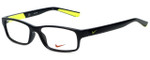 Nike Designer Eyeglasses Nike-5534-015 in Black Volt 48mm :: Rx Single Vision
