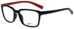 Nike Designer Eyeglasses 7096-005 in Black Red 53mm :: Rx Single Vision
