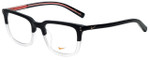 Nike Designer Eyeglasses Kevin Durant 37KD-010 in Matte Black Crystal Clear 52mm :: Rx Bi-Focal