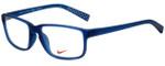 Nike Designer Eyeglasses 7095-415 in Matte Navy Midnight 54mm :: Rx Bi-Focal