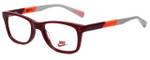 Nike Designer Eyeglasses 5538-605 in Team Red Bright Crimson 46mm Kids Size :: Custom Left & Right Lens