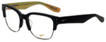 Nike Designer Eyeglasses Nike-35KD-001 in Matte Black Gunmetal 55mm :: Rx Single Vision
