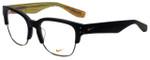 Nike Designer Eyeglasses Nike-35KD-001 in Matte Black Gunmetal 55mm :: Rx Bi-Focal