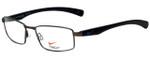 Nike Designer Eyeglasses Nike-4257-034 in Brushed Gunmetal Black 53mm :: Rx Bi-Focal