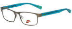 Nike Designer Eyeglasses Nike-5574-070 in Gunmetal Volt 47mm :: Custom Left & Right Lens