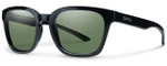 Smith Optics Founder Slim Designer Sunglasses in Black with Polarized ChromaPop Green Lens