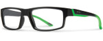 Smith Optics Designer Eyeglasses Vagabond in Black Reactor Green 55mm :: Rx Single Vision