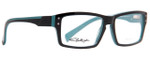Smith Optics Designer Eyeglasses Wainwright in Black Blue 55mm :: Rx Single Vision