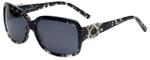 Charriol Designer Sunglasses in Black Tortoise Frame & Grey Lens (PC8091-C3)