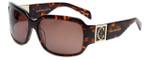 Charriol Designer Sunglasses in Tortoise Frame & Amber Lens (PC8071-C2)