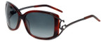 Charriol Designer Sunglasses in Brown Marble Frame & Grey Gradient Lens (PC8075-C3)