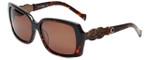 Charriol Designer Sunglasses in Tortoise Frame & Amber Lens (PC8076-C2)