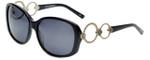Charriol Designer Sunglasses in Black Frame & Grey Lens (PC8086-C1)