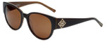 Charriol Designer Sunglasses in Brown Frame & Amber Lens (PC8088-C2)
