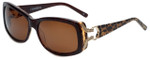 Charriol Designer Sunglasses in Brown Leopard Frame & Brown Lens (PC8090-C2)