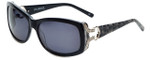 Charriol Designer Sunglasses in Black Leopard Frame & Grey Lens (PC8090-C3)