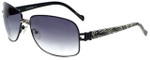 Charriol Designer Sunglasses in Black Zebra Frame & Purple Gradient Lens (PC8025-C2)