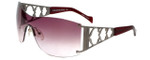 Charriol Designer Sunglasses in Silver Frame & Rose Gradient Lens (PC8051-C3)