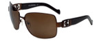 Charriol Designer Sunglasses in Brown Frame & Amber Lens (PC8064-C2)