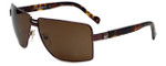 Charriol Designer Sunglasses in Brown Frame & Amber Lens (PC8068-C2)