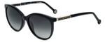 Carolina Herrera Designer Sunglasses SHE703-0700 in Black