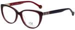 Carolina Herrera Designer Eyeglasses VHE710K-0V01 in Black Purple 53mm :: Custom Left & Right Lens