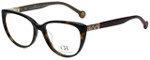 Carolina Herrera Designer Eyeglasses VHE710K-722Y in Dark Havana 53mm :: Rx Single Vision