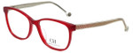 Carolina Herrera Designer Eyeglasses VHE676K-0849 in Shiny Opal Red 54mm :: Progressive