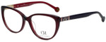 Carolina Herrera Designer Eyeglasses VHE710K-0V01 in Black Purple 53mm :: Progressive