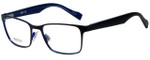 Hugo Boss Designer Eyeglasses BO0183-JOD in Black Blue 51mm :: Rx Single Vision