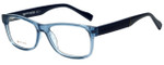 Hugo Boss Designer Eyeglasses BO0084-6V1 in Transparent Blue 52mm :: Rx Bi-Focal