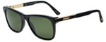 Chopard Designer Polarized Sunglasses SCH218-700P in Shiny Black with Green Lens