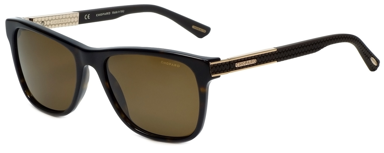 4aef3c4274 Chopard Designer Polarized Sunglasses SCH218-722P in Shiny Dark Havana with  Amber Lens. Image 1. Loading zoom
