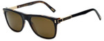 Chopard Designer Polarized Sunglasses SCH219-U64P in Shiny Black Havana with Amber Lens