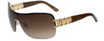Chopard Designer Sunglasses SCHA62S-300 in Shiny Brown Gold with Brown Gradient Lens