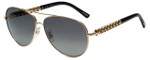 Chopard Designer Polarized Sunglasses SCHB66S-300P in Shiny Rose Gold with Grey Gradient Lens