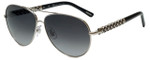 Chopard Designer Sunglasses SCHB66S-579 in Shiny Palladium with Grey Gradient Lens
