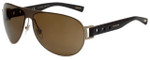 Chopard Designer Polarized Sunglasses SCHB83-8ADP in Matte Gold Brown with Brown Gradient Lens