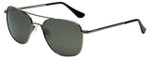 Randolph Designer Sunglasses Aviator AF090 in Gunmetal with Gray Lens