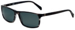 Argyleculture Juke Designer Polarized Sunglasses in Black with Grey Lens