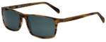 Argyleculture Juke Designer Polarized Sunglasses in Brown with Grey Lens