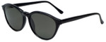 I's Oval Designer Sunglasses W2069-504 in Black with Grey Lens