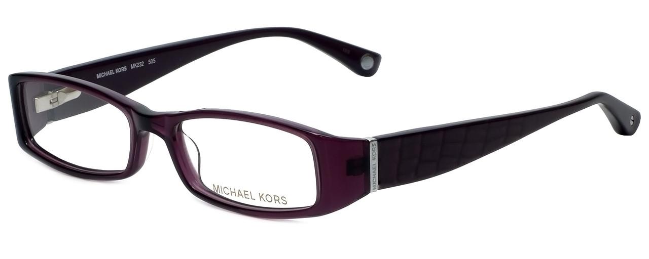 64a54717d629 Michael Kors Designer Eyeglasses MK232-505 in Plum 50mm :: Custom ...