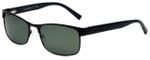 Chesterfield Beagle Designer Polarized Sunglasses in Matte Black with Green Lens