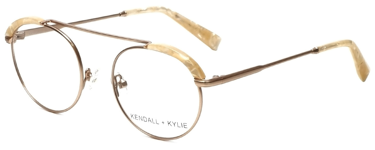 fef96fc5fce Kendall + Kylie Designer Eyeglasses Stacie KKO130-780 in Rose Gold 48mm     Rx Bi-Focal