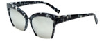 Kendall + Kylie Designer Sunglasses Brooke KK5001-961 in Black and White Marble Demi 55mm