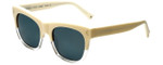 Kendall + Kylie Designer Sunglasses Cassie KK5008-104 in Cream Clear 54mm