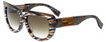 Fendi Designer Sunglasses FF0031-7YQ in Brown 53mm